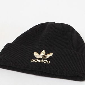 adidas Accessories - Adidas Trefoil Beanie Black   Gold 6b54db8ef95